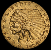 1908 $2.50 Indian Quarter Eagle Gold Coin