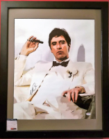 "Al Pacino Signed 21x35 ""Scarface"" Custom Framed Canvas Print (PSA COA)"
