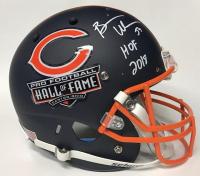 """Brian Urlacher Signed Bears Hall of Fame Logo Full-Size Helmet Inscribed """"HOF 2018"""" (JSA COA)"""