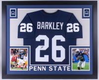 Saquon Barkley Signed Penn State Nittany Lions 35x43 Custom Framed Jersey (JSA COA)