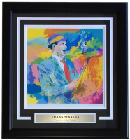 "Leroy Neiman ""Frank Sinatra "" 17x19 Custom Framed Print Display"