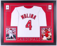 Yadier Molina Signed Cardinals 35x43 Custom Framed Jersey (JSA Hologram)
