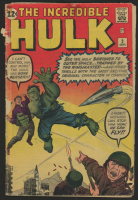 """1962 """"The Incredible Hulk"""" Issue #3 Marvel Comic Book"""