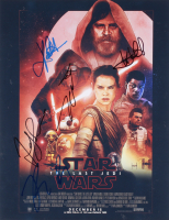 """Star Wars: The Last Jedi"" 11x14 Photo Signed By (5) With Mark Hamill, Kelly Marie Tran, Rian Johnson, Andy Serkis (JSA ALOA) at PristineAuction.com"