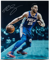 "Ben Simmons Signed Philadelphia 76ers ""Vision"" 20x24 Photo (UDA COA) at PristineAuction.com"