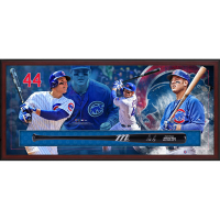 Anthony Rizzo Signed Cubs 23.5x49.5x3.25 Custom Framed Marucci Game Model Baseball Bat Shadowbox Display (Fanatics Hologram)