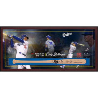 "Cody Bellinger Signed Los Angeles Dodgers ""Rookie of the Year"" 23.5x49.5x3.25 Custom Framed Louisville Slugger Baseball Bat Shadowbox Display (Fanatics Hologram & MLB Hologram) at PristineAuction.com"