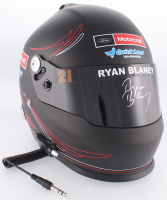 """Ryan Blaney Signed NASCAR Pocono """"First Cup Win"""" Limited Edition Full-Size Helmet (PA COA)"""