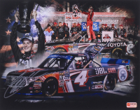 Christopher Bell Signed NASCAR Championship Celebration 11x14 Photo (PA COA)