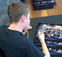 Christopher Bell Signed NASCAR Championship Celebration 11x14 Photo (PA COA) at PristineAuction.com