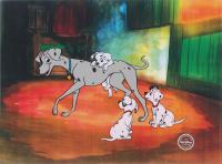 """Walt Disney's """"101 Dalmatians"""" LE 11x14.5 Animation Serigraph Cel at PristineAuction.com"""