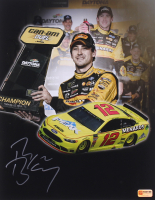 Ryan Blaney Signed 2018 Daytona Duel Win NASCAR 11x14 Photo (PA COA) at PristineAuction.com