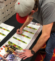 Ryan Blaney Signed 2017 Pocono Win NASCAR 11x14 Photo (PA COA) at PristineAuction.com