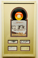 The Highwaymen 14x23 Custom Framed Signature Cut Display Band-Signed by (4) with Johnny Cash, Waylon Jennings, Kris Kristofferson & Willie Nelson with Record (JSA COA & PSA COA)