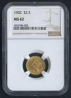 1902 $2.50 Liberty Head Gold Coin (NGC MS 62)