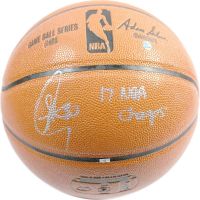 "Stephen Curry Signed Spalding Basketball Inscribed ""17 NBA Champs"" (Steiner COA)"