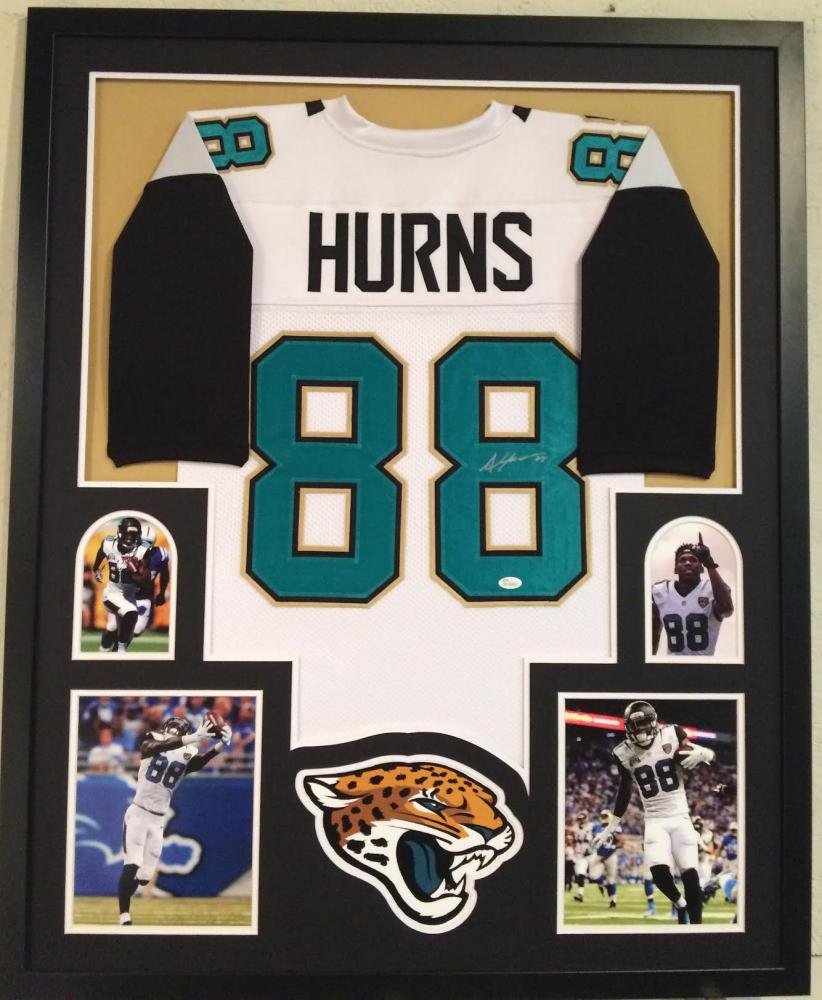 3f4a74ea1 Allen Hurns Signed Jaguars 34x42 Custom Framed Jersey (JSA COA)