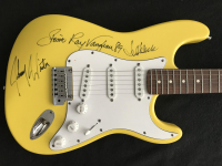 Stevie Ray Vaughn, Jeff Beck & Johnny Winter Signed Full-Size 1989-90 Fender Stratocaster USA Electric Guitar (JSA LOA)