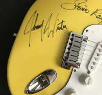Stevie Ray Vaughn, Jeff Beck & Johnny Winter Signed Full-Size 1989-90 Fender Stratocaster USA Electric Guitar (JSA LOA) at PristineAuction.com