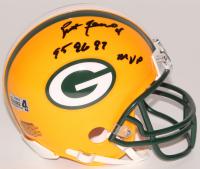 """Brett Favre Signed Packers Mini-Helmet Inscribed """"95 96 97 MVP"""" (Radtke Hologram) at PristineAuction.com"""