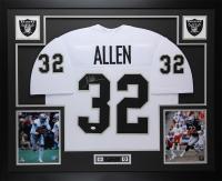 Marcus Allen Signed 35x43 Custom Framed Jersey (JSA COA) at PristineAuction.com