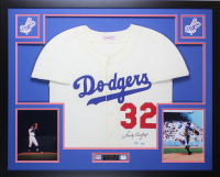 Sandy Koufax Signed Dodgers 35x43 Custom Framed Jersey (Fanatics & MLB Hologram)
