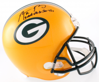 "Aaron Rodgers Signed Packers Full-Size Helmet Inscribed ""Fastest QB to 300 TD"" (Steiner COA) at PristineAuction.com"