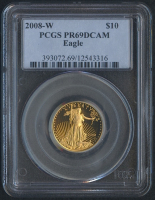 2008-W $10 Ten Dollars American Gold Eagle Saint-Gaudens 1/4 Oz Gold Coin (PCGS PR 69) (DCAM)