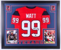J.J. Watt Signed Texans 35x43 Custom Framed Jersey (JSA Hologram & Watt Hologram)