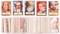 1952 Look N' See Complete Set of (135) Baseball Cards with #124 Charles Darwin, #125 Charles Dickens, #127 Galileo, #126 Leif Ericson, #21 Benjamin Franklin
