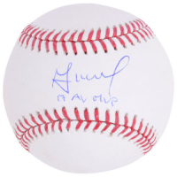 "Jose Altuve Signed Baseball Inscribed ""17 AL MVP"" (Fanatics Hologram & MLB Hologram) at PristineAuction.com"