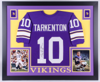 "Fran Tarkenton Signed Vikings 35x43 Custom Framed Jersey Inscribed ""HOF 86""  (JSA COA)"