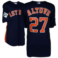 Jose Altuve Signed Astros Jersey with 2017 World Series Patch (Fanatics Hologram) at PristineAuction.com