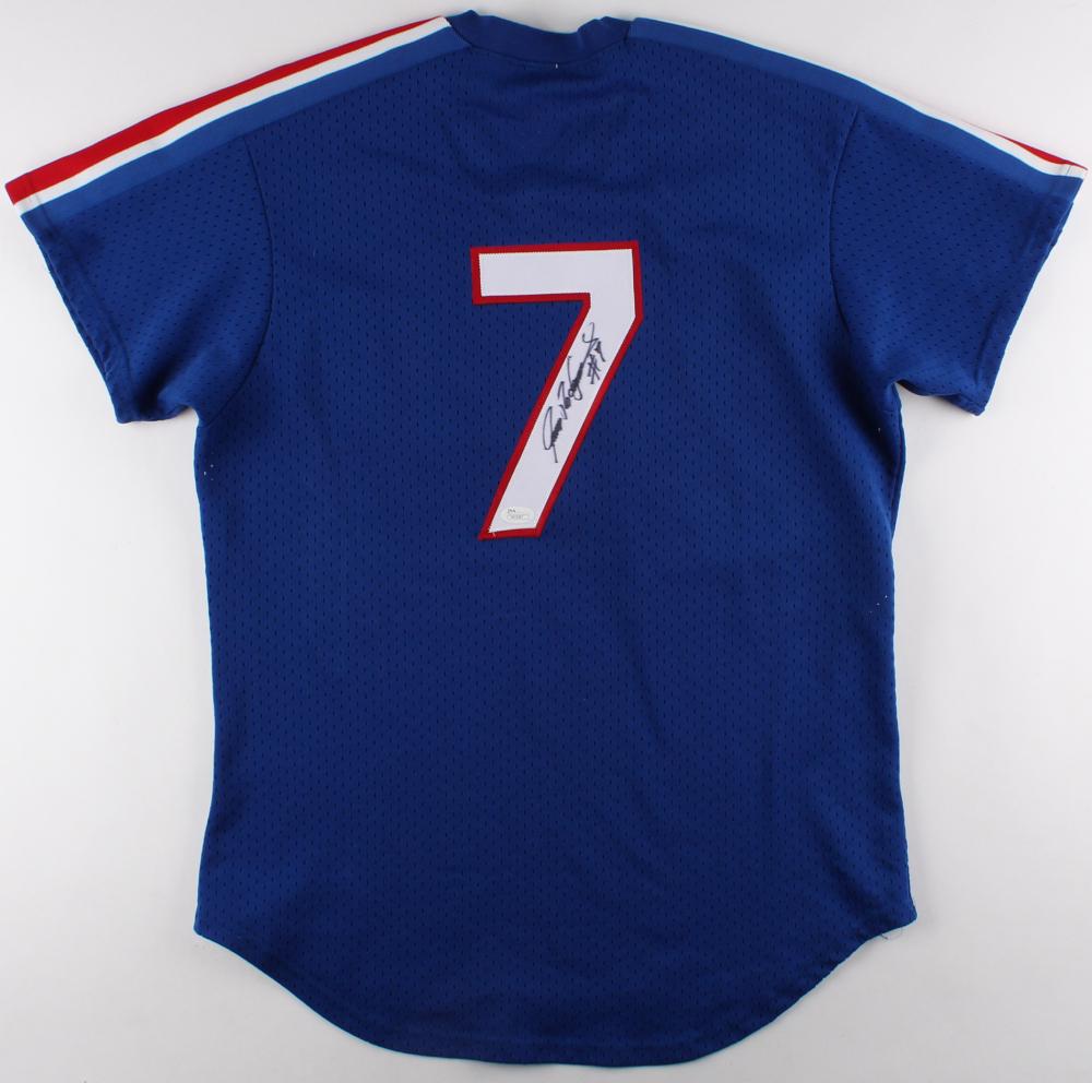 best loved eaf55 17b86 Details about Ivan Pudge Rodriguez Texas Rangers Signed Rookie Batting  Practice Jersey JSA COA