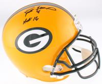 """Brett Favre Signed Packers Full-Size Helmet Inscribed """"HOF 16"""" (Favre COA)"""