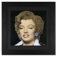 "Ringo Signed ""Marilyn Classic"" 20x20 Custom Framed One-of-a-Kind Mixed Media Painting on Canvas at PristineAuction.com"