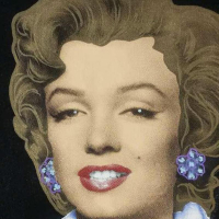 """Ringo Signed """"Marilyn Classic"""" 20x20 Custom Framed One-of-a-Kind Mixed Media Painting on Canvas at PristineAuction.com"""