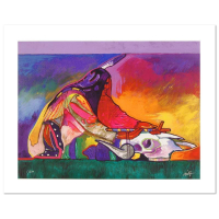 "John Nieto Signed ""Calling on the Power of the Buffalo"" Limited Edition 24x18 Giclee on Canvas #1/500"
