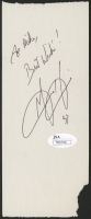 """Grant Hill Signed 3x6.5 Cut Inscribed """"Best Wishes!"""" (JSA COA) (See Description) at PristineAuction.com"""