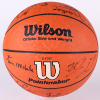 Bulls Basketball Team-Signed by (14) With Michael Jordan, Scottie Pippen, Horace Grant, Stacey King, Bill Cartwright, Craig Hodges (JSA ALOA)