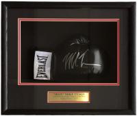 "Mike Tyson Signed ""Iron"" 18x19x4 Custom Framed Boxing Glove Shadowbox Display (JSA COA)"