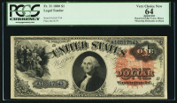 1880 $1 One Dollar Legal Tender Large Bank Note Bill (PCGS 64)