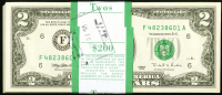 Original Pack of (100) 1995 $2 Two Dollars Federal Reserve Notes (Choice Crisp Uncirculated)