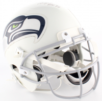 "Steve Largent Signed Seahawks Full-Size Authentic On-Field Helmet Inscribed ""HOF '95"" (JSA COA)"