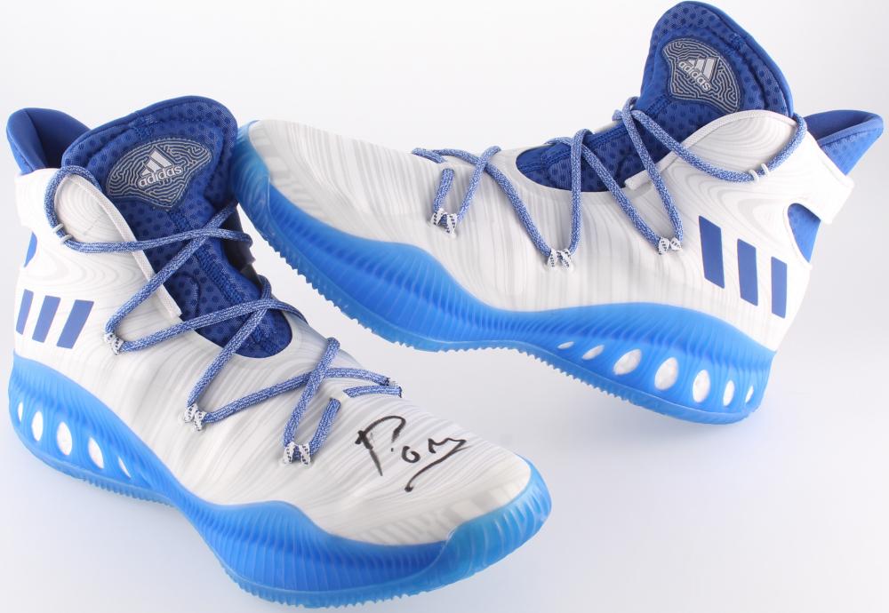 c6199d2bae09a8 Kristaps Porzingis Signed Adidas Basketball Shoe (JSA COA) at  PristineAuction.com
