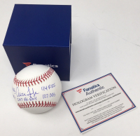 Aaron Judge Signed Limited Edition OML Baseball with (5) Stat Inscriptions (Fanatics Hologram & MLB Hologram) at PristineAuction.com