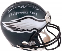 "Carson Wentz Signed Philadelphia Eagles Full-Size Authentic On-Field Helmet Inscribed ""Fly Eagles Fly!"" (Fanatics Hologram) at PristineAuction.com"