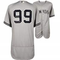 "Aaron Judge Signed Yankees Jersey Inscribed ""2017 AL ROY"" (Fanatics & MLB Hologram) at PristineAuction.com"