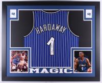 Penny Hardaway Signed Magic 35x43 Custom Framed Jersey (JSA COA)