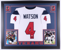 Deshaun Watson Signed Texans 35x43 Custom Framed Jersey (JSA COA & Watson Hologram)